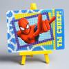 """Алмазная мозаика для детей """"Ты супер!"""" Человек-паук А6"""