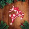 """Новогодняя игрушка из фетра с вышивкой стразами """"Олень"""""""