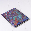 "Блокнот стразами ""Красавец павлин"". Алмазная мозаика на обложке, 50 стр., А5"