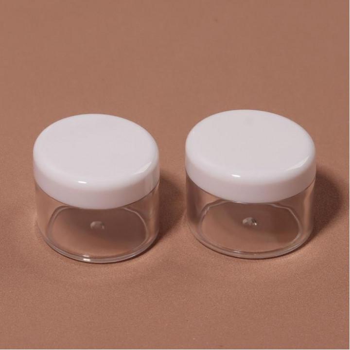 Баночки для декора, 2 шт, 20 гр, цвет белый/прозрачный