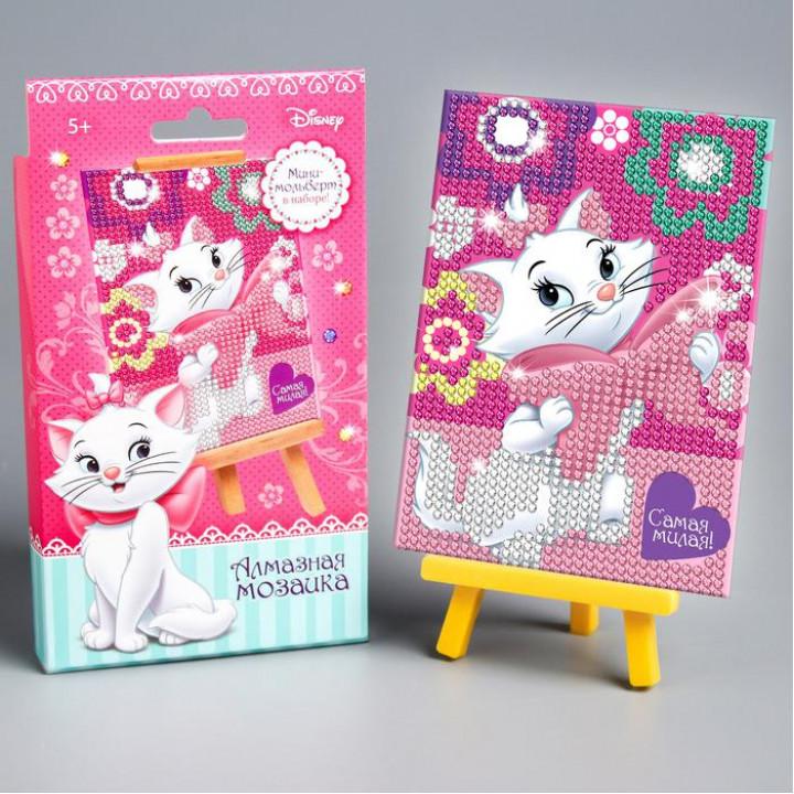 """Алмазная вышивка для детей """"Самая милая"""" Коты Аристократы 10х15"""