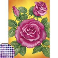 """Алмазная вышивка с частичным заполнением """"Розы"""""""