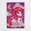 Алмазная мозаика для детей «Волшебный единорог», 10 х 15 см