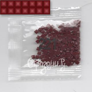 Стразы для алмазной вышивки DMC 221 квадратные 200-220 шт