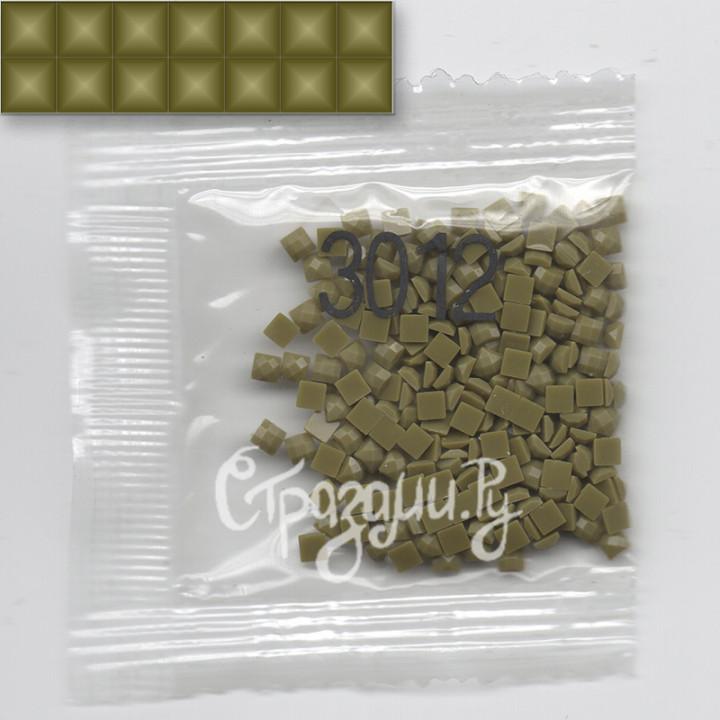 Стразы для алмазной вышивки DMC 3012 квадратные 1,4 г