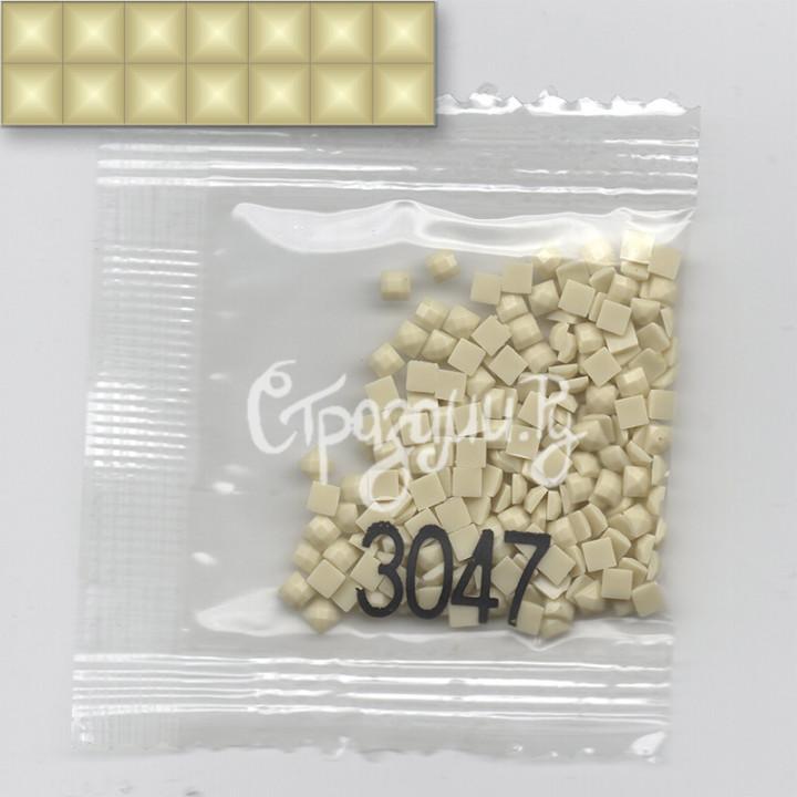 Стразы для алмазной вышивки DMC 3047 квадратные 200-220 шт