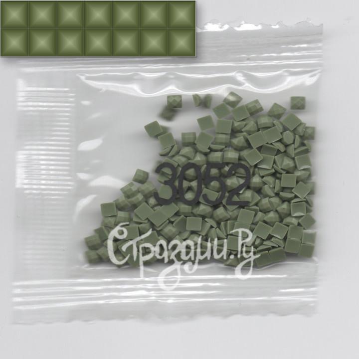 Стразы для алмазной вышивки DMC 3052 квадратные 1,4 г