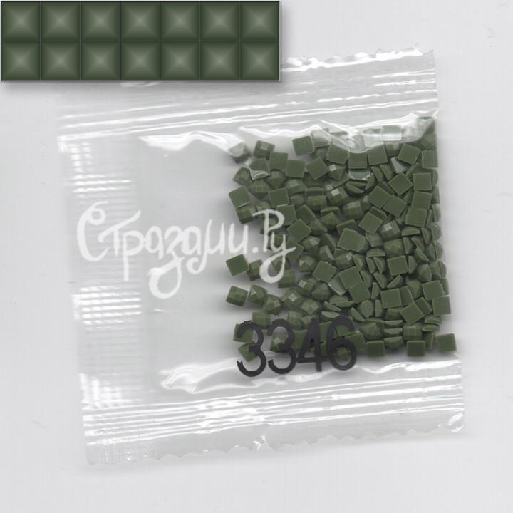 Стразы для алмазной вышивки DMC 3346 квадратные 1,4 г