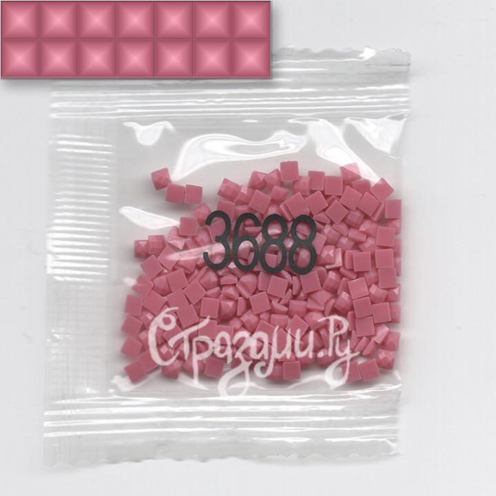 Стразы для алмазной вышивки DMC 3688 квадратные 200-220 шт