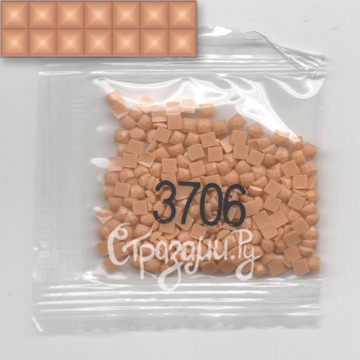 Стразы для алмазной вышивки DMC 3706 квадратные 200-220 шт