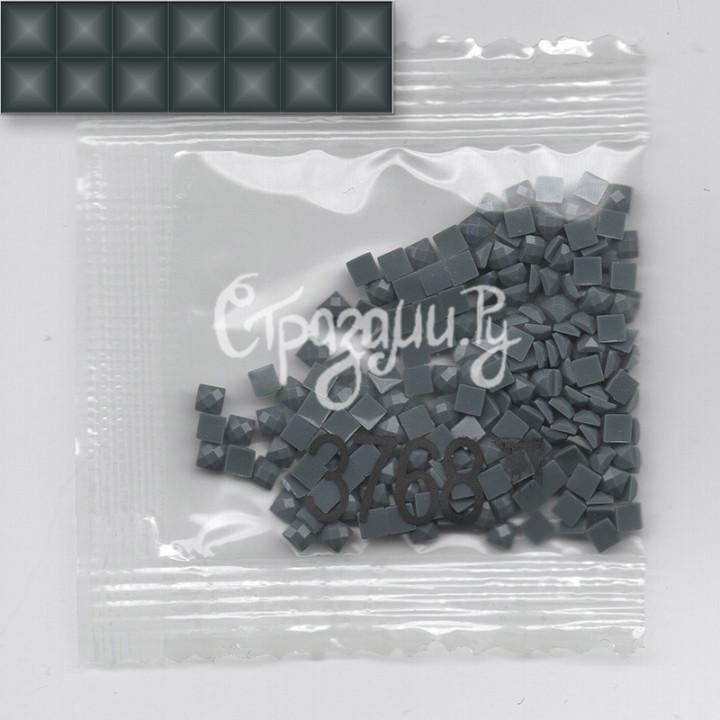 Стразы для алмазной вышивки DMC 3768 квадратные 1,4 г
