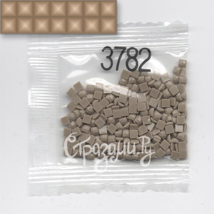 Стразы для алмазной вышивки DMC 3782 квадратные 1,4 г