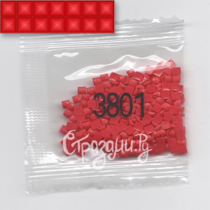 Стразы для алмазной вышивки DMC 3801 квадратные 1,4 г