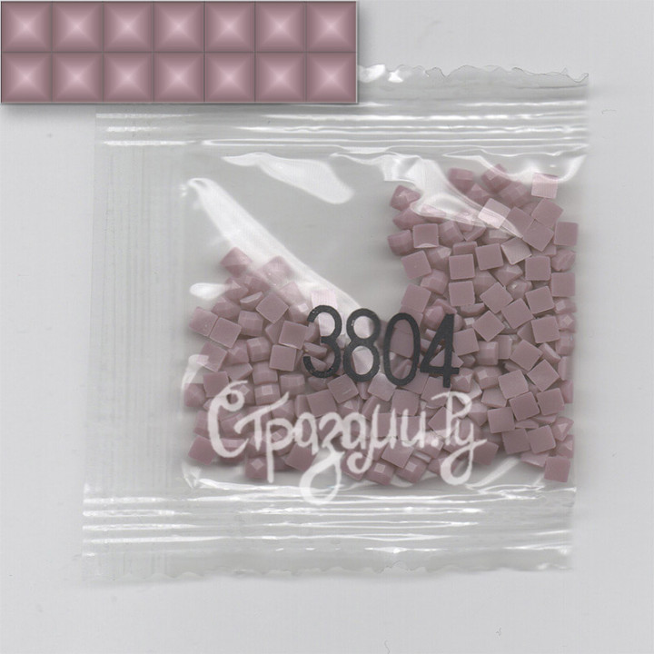 Стразы для алмазной вышивки DMC 3804 квадратные 1,4 г