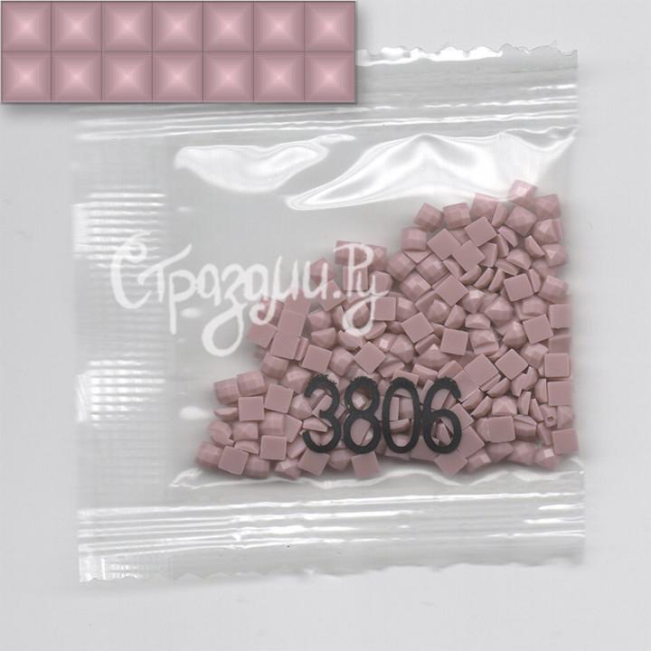 Стразы для алмазной вышивки DMC 3806 квадратные 1,4 г