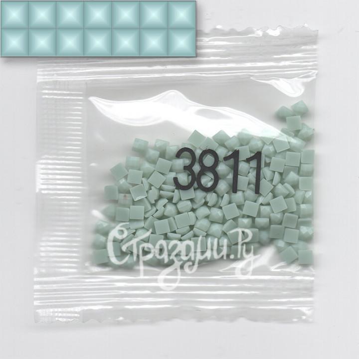 Стразы для алмазной вышивки DMC 3811 квадратные 1,4 г