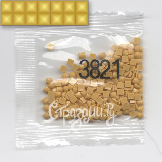 Стразы для алмазной вышивки DMC 3821 квадратные 1,4 г