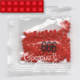 Стразы для алмазной вышивки DMC 666 квадратные 1,4 г