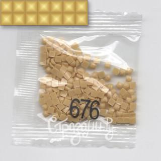 Стразы для алмазной вышивки DMC 676 квадратные 1,4 г