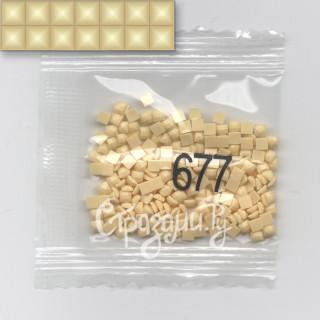 Стразы для алмазной вышивки DMC 677 квадратные 1,4 г