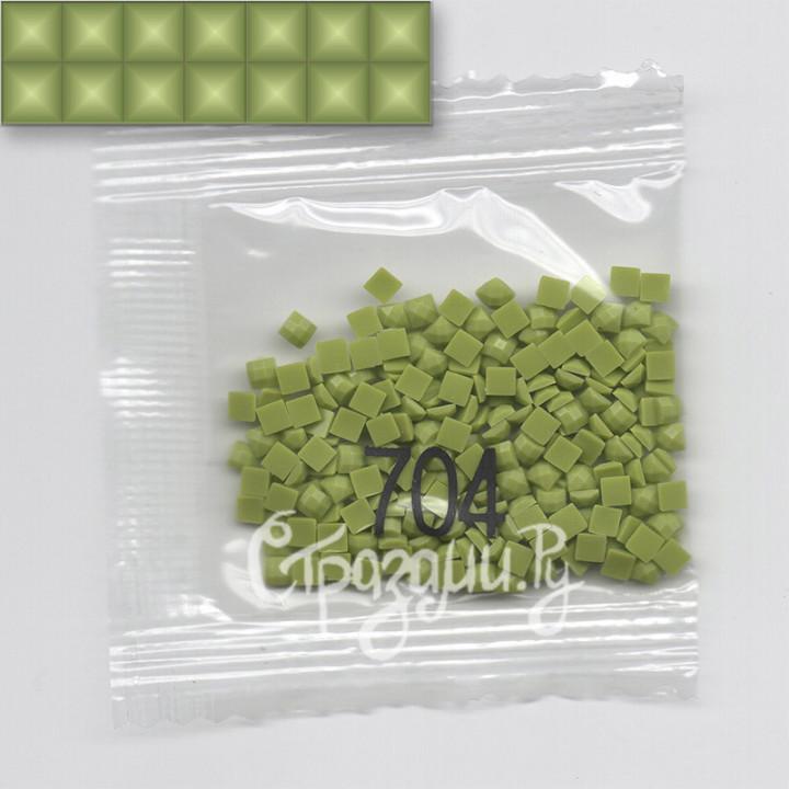 Стразы для алмазной вышивки DMC 704 квадратные 1,4 г