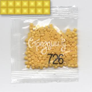 Стразы для алмазной вышивки DMC 726 квадратные 200-220 шт