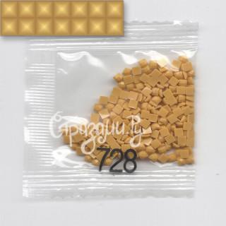 Стразы для алмазной вышивки DMC 728 квадратные 1,4 г