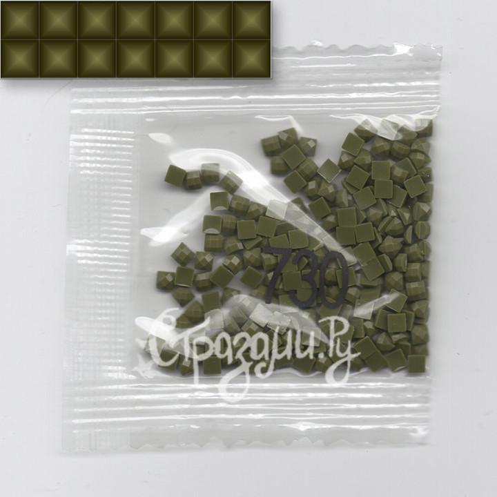 Стразы для алмазной вышивки DMC 730 квадратные 1,4 г