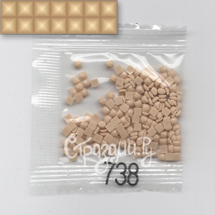 Стразы для алмазной вышивки DMC 738 квадратные 1,4 г