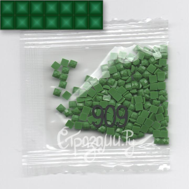 Стразы для алмазной вышивки DMC 909 квадратные 1,4 г