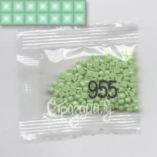 Стразы для алмазной вышивки DMC 955 квадратные 1,4 г