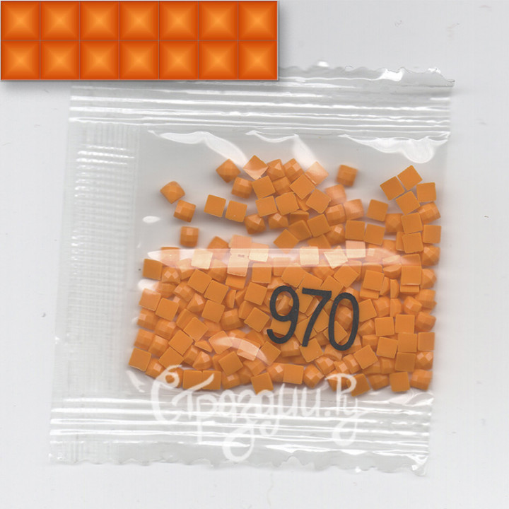 Стразы для алмазной вышивки DMC 970 квадратные 200-220 шт